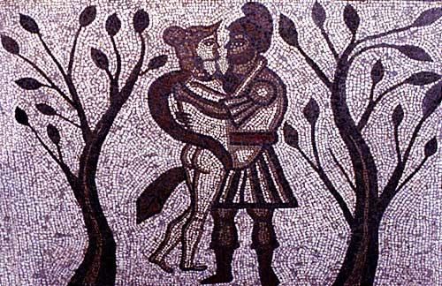 Dido and Aeneas take refuge Dido And Aeneas Cave