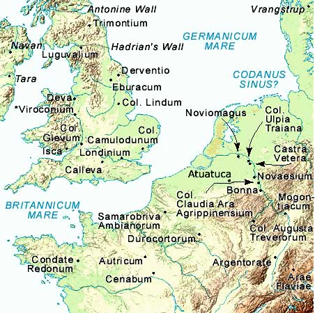 Gaul World Map.Vindolanda Tablets Online Exhibition Map Of Northern Gaul In The